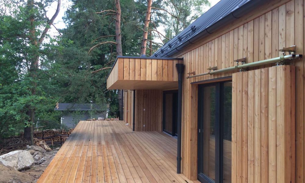 Dřevěná fasáda - vertikální